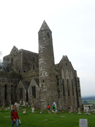 Welcome to the Rock of Cashel! Not pictured: the construction covering the WHOLE front side.